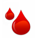 Blood droplets
